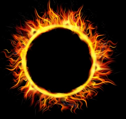 fire-circle-on-black-background-vector-9312994