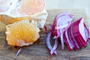 Салат из арагулы и печени