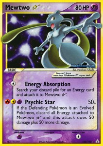 Mewtwo Gold Star EX Holon Phantoms 103-110