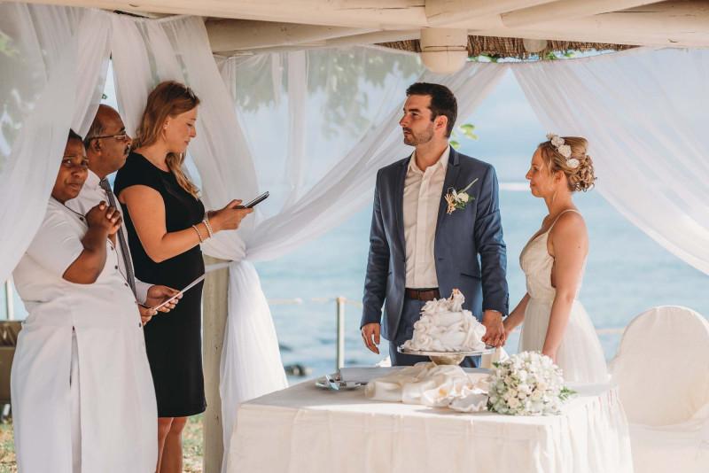 Свадьба на Маврикии Альберта и Карины