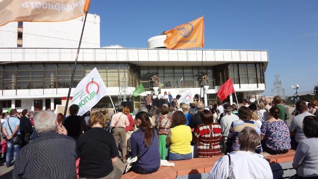 Выступает активистка из села Красное