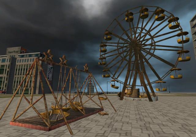 Cardboard Ferris Wheel a Boat Swing And Ferris Wheel