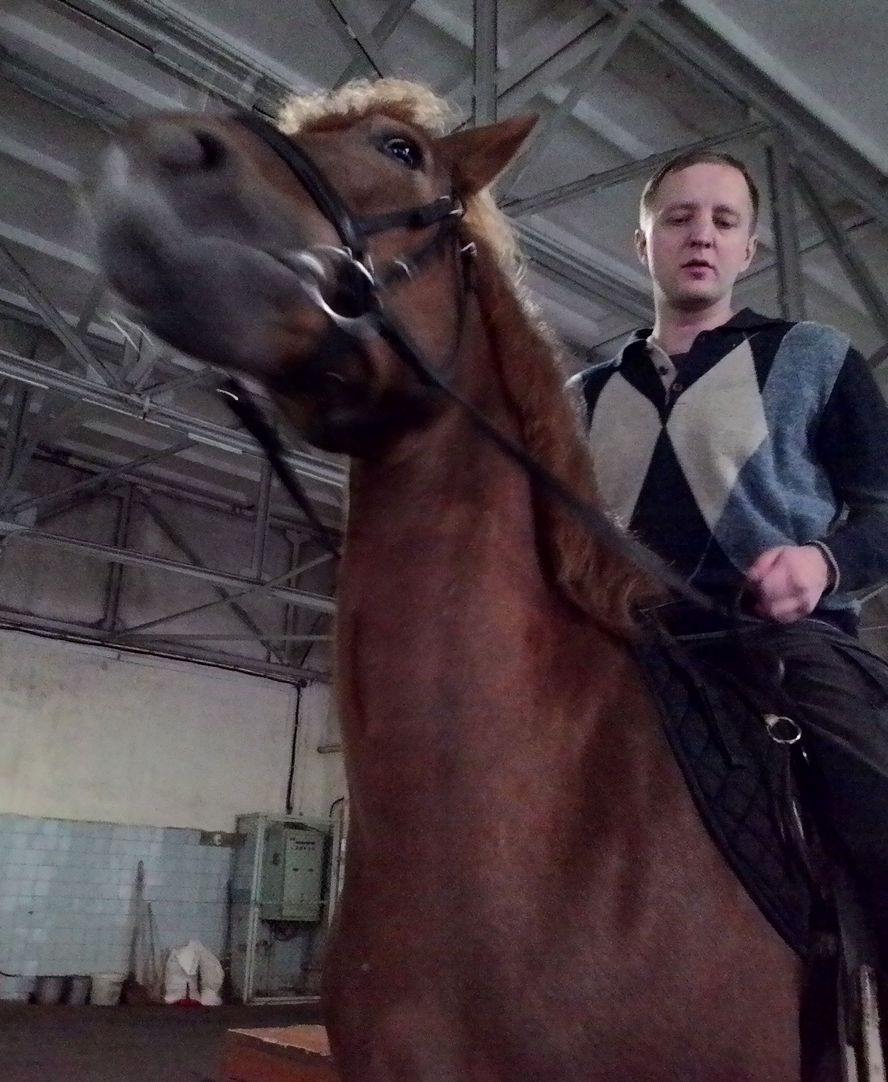 Василий Поздняков на лошади Фанта