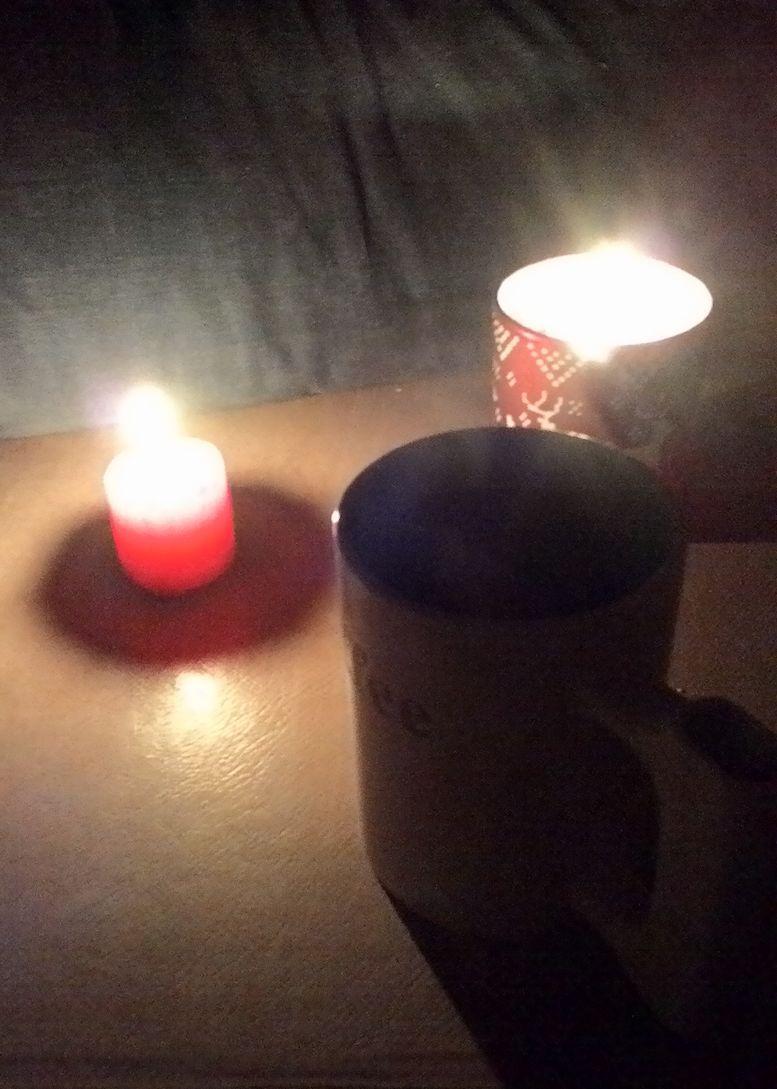 чай с чабрецом при свечах