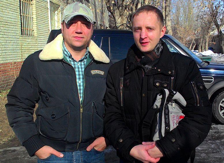 Василий Поздняков с актером Георгием Дроновым