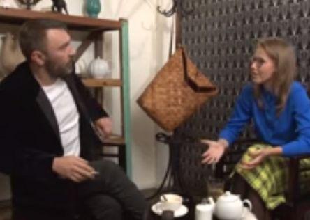 Сергей Шнуров и Ксения Собчак