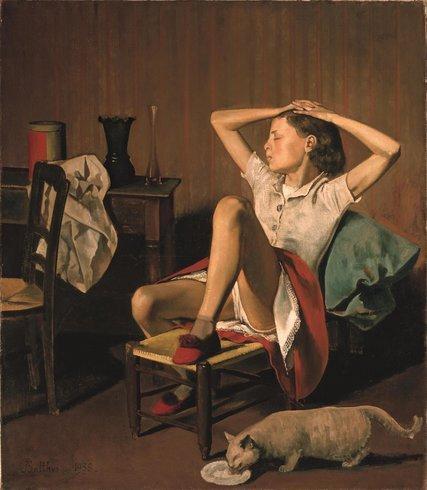 Бальтюс (Бальтазар Клоссовски де Рола, 1908-2001) — французский художник. Он нередко изображал детей во «взрослых» позах или обнаженными. «Спящая Тереза» была написана в 1938 году. Модели — Терезе Бланшар — тогда было 12 или 13 лет. В 2017 Нью-йоркский музей Метрополитен отказался убрать из экспозиции картину художника Бальтюса «Спящая Тереза», которую некоторые посетители сочли «романтизацией сексуализации ребенка»