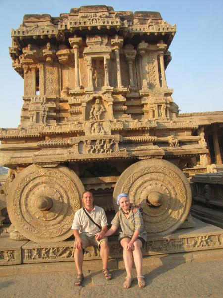 Каменная колесница у храма Витталы