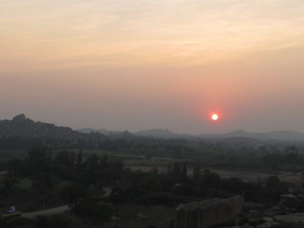 Закат над Хампи