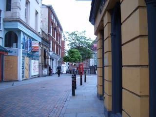 Victoria Street, looking east.