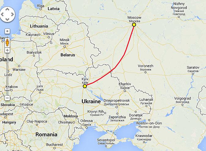 поездами Москва-Киев за