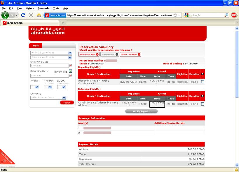 air arabia com online booking