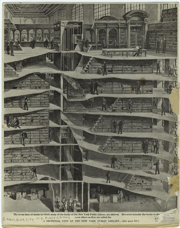 NY Public library stacks
