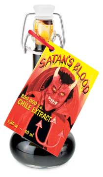 8000000 satan's  blood hot sauce