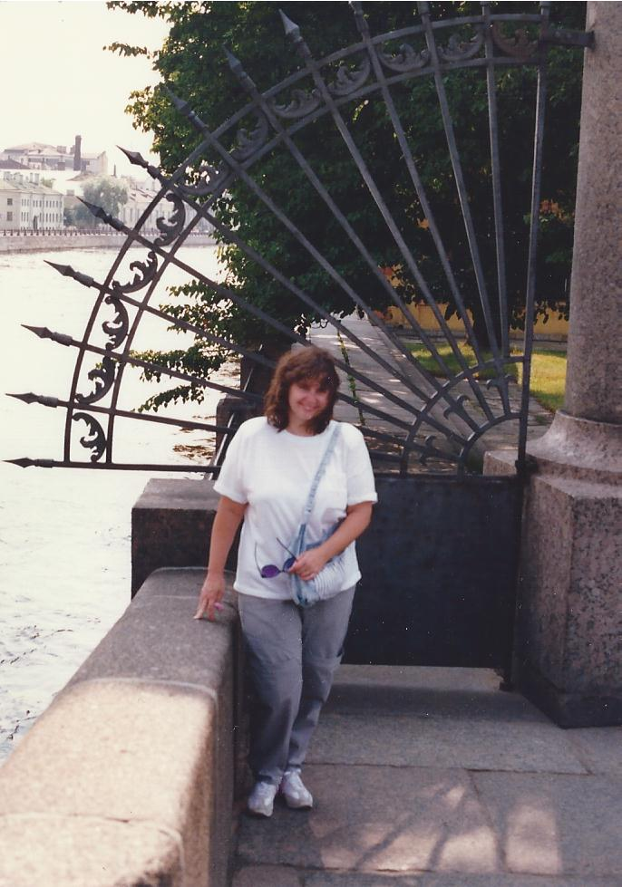 Karen at Letnij Sad reshotka St .Petersburg 1988