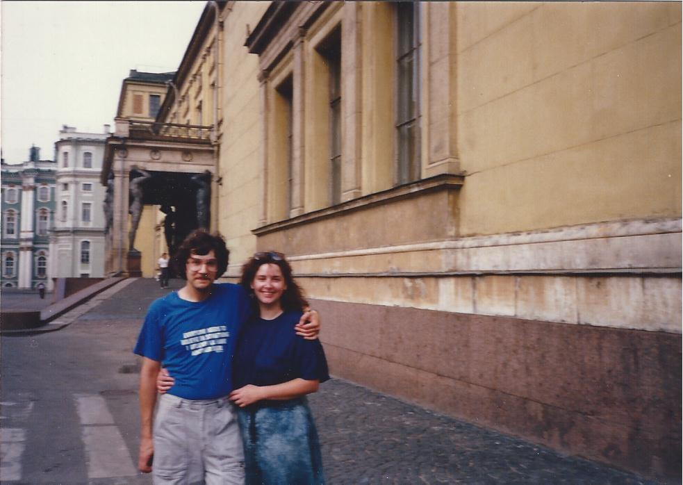 Karen and Alex Hermitage St.Petersburg,1988