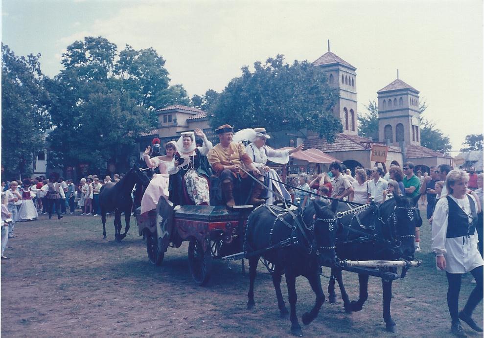 NA POVOZKE S KONYAMI Renaissance Festival MInnesota 1983