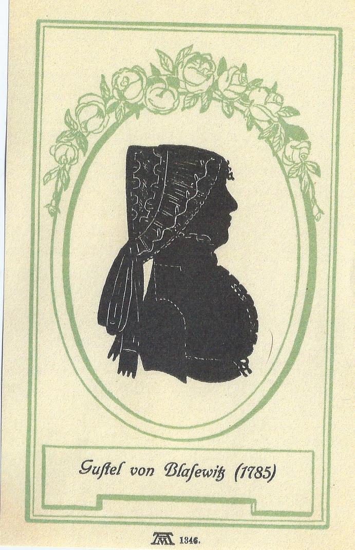 XVIII century lady profile