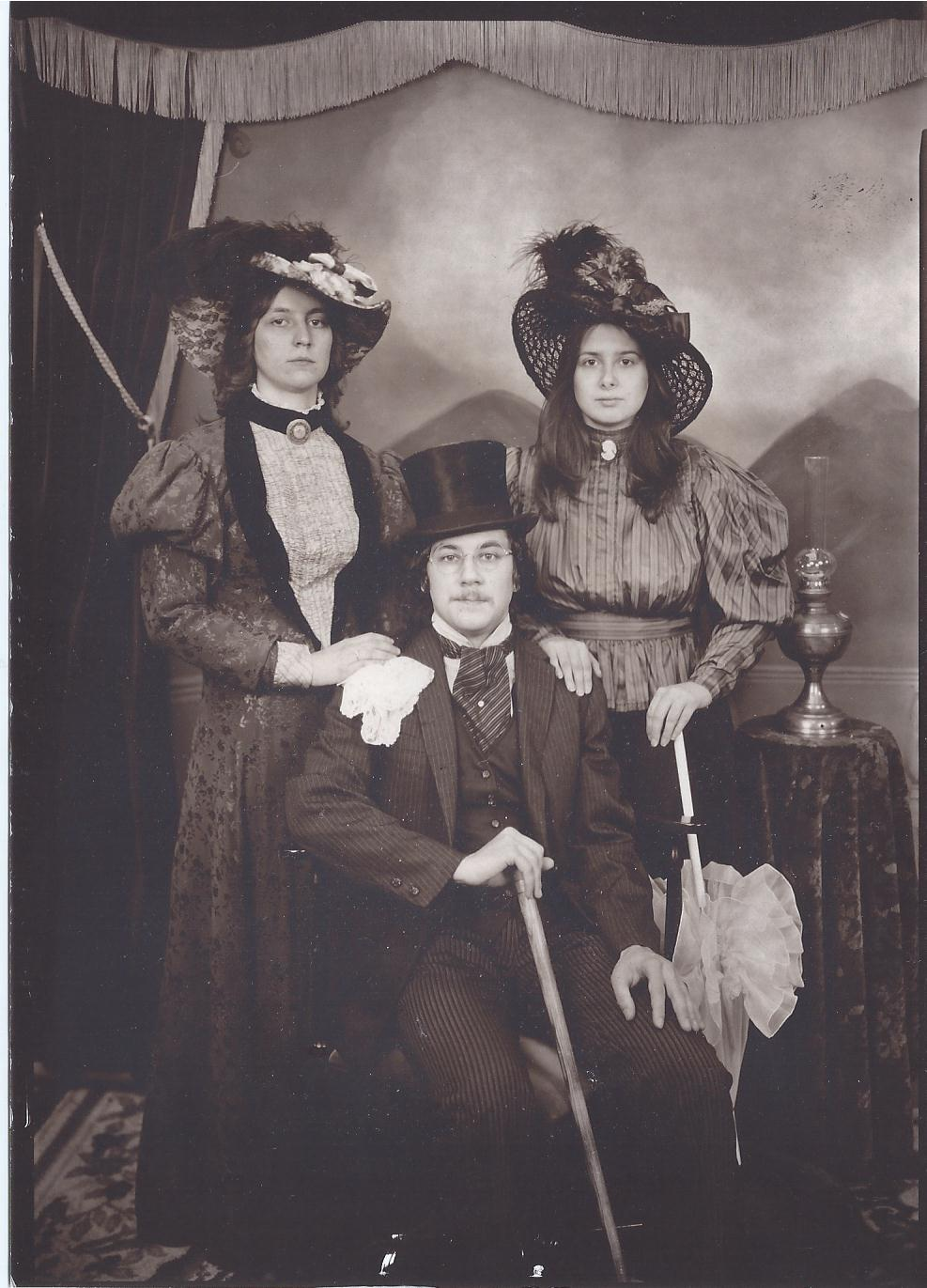 Victorian photograph Terri,Karen and Alex