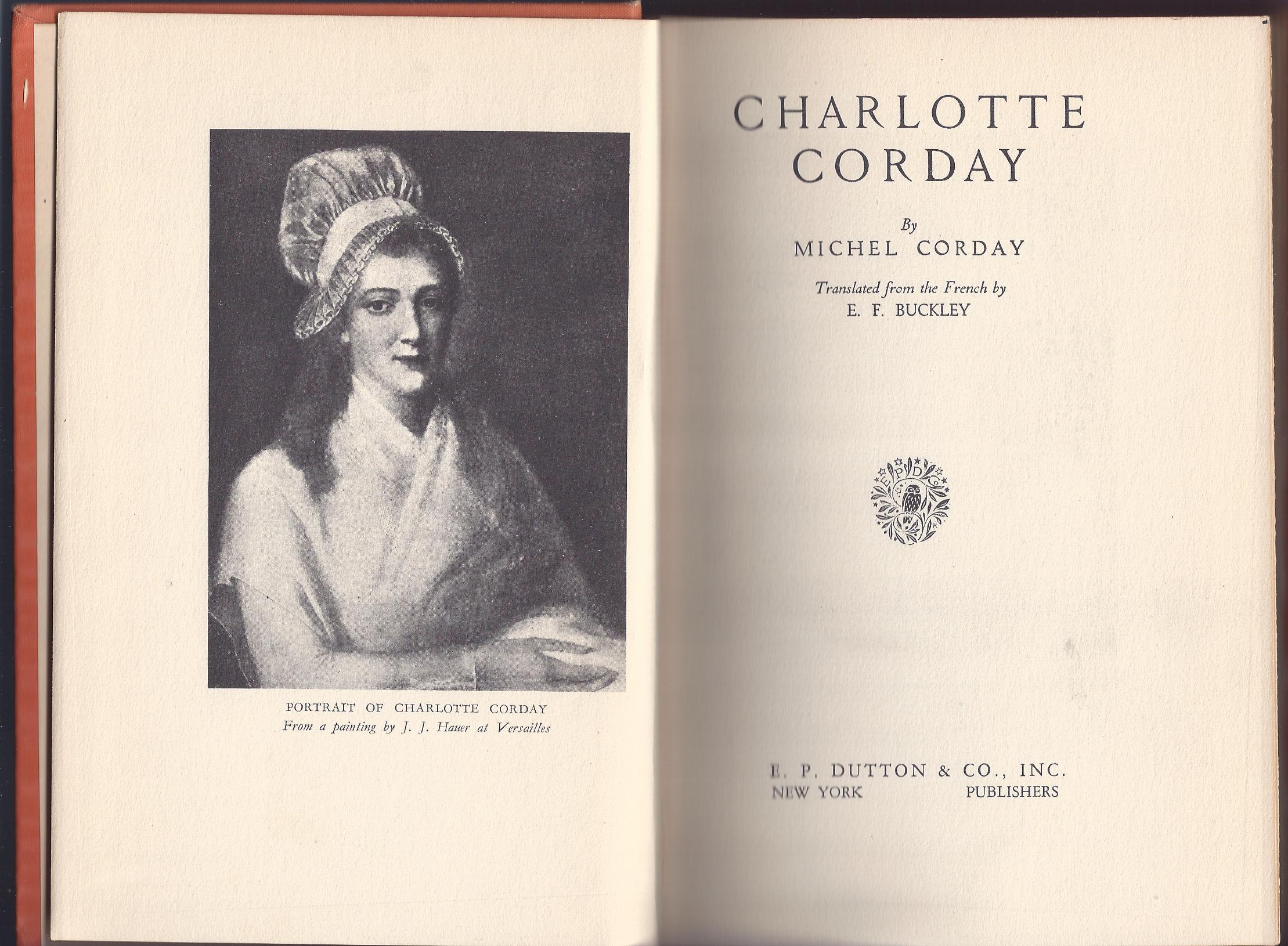 Michel Corday. Charlotte Corday