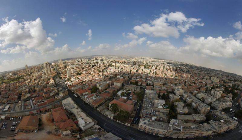 Виды с высотки JTower, Иерусалим.