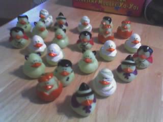 My Glow-in-the-dark Duckie Army