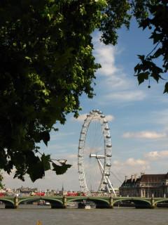London Eye - вид со стороны Вестминстера