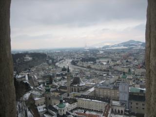 Вид из крепости на Зальцбург