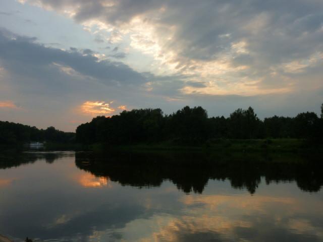 Закат над рекой Неман (Нямунас по-местному:))