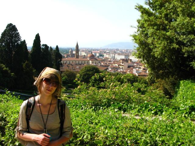 За спиной - вся Флоренция