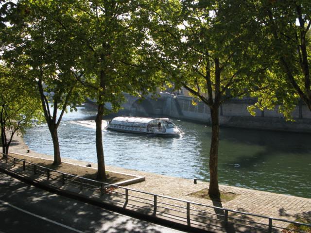 Бато-муш плывет по Сене