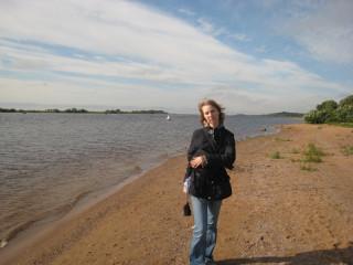 Около Юрьева монастыря: исток Волхова из озера Ильмень