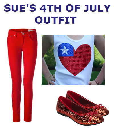 Sue's 4th Of July Outfit