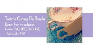 Licence SVG tea cup bundle on Creative Market
