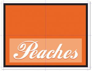 Fruit label frame