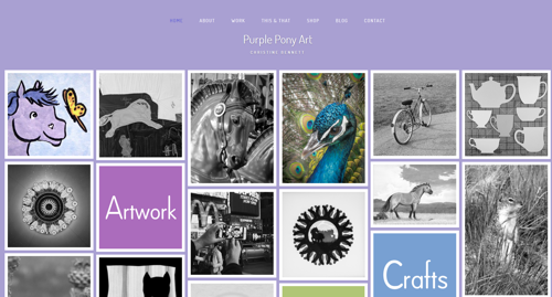 Purple Pony Art website