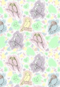 Tiled budgie pattern