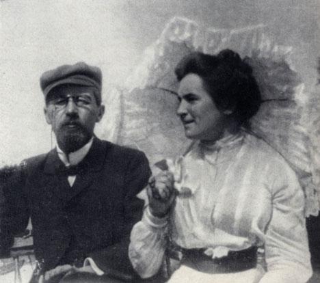 А.П. Чехов и О.Л. Книппер в Любимовке