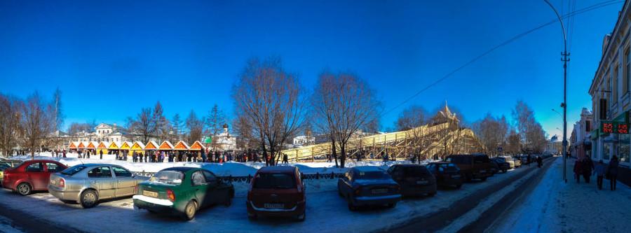 Горка, панорама с проспекта Победы