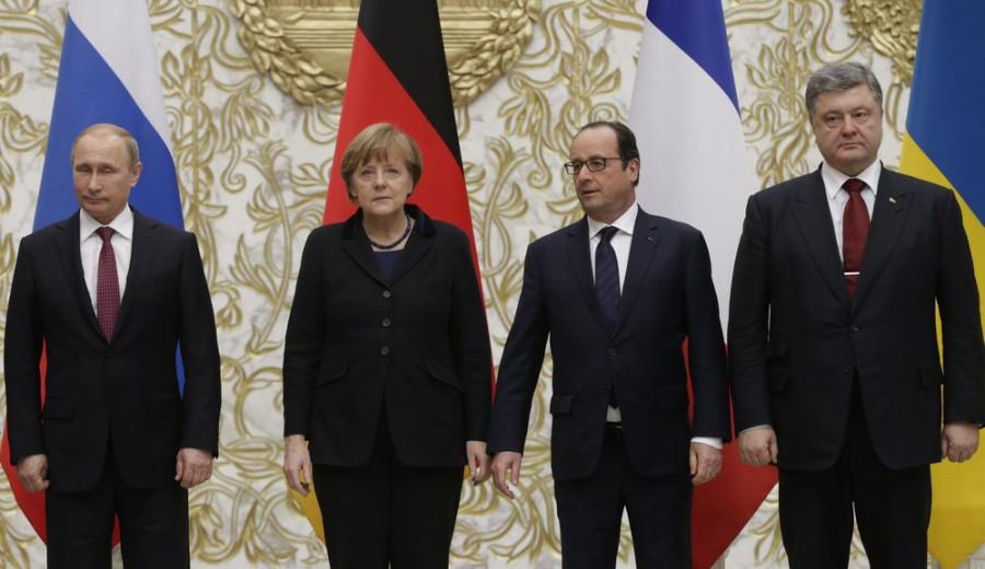 German Chancellor Angela Merkel and French President Francois Hollande already met Russia's Vladimir Putin-minsk
