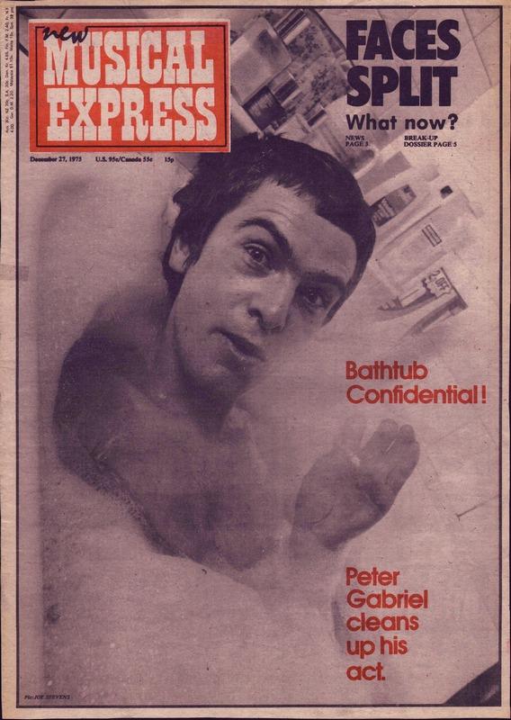 Питер Гэбриэл, интервью NME 1975 года