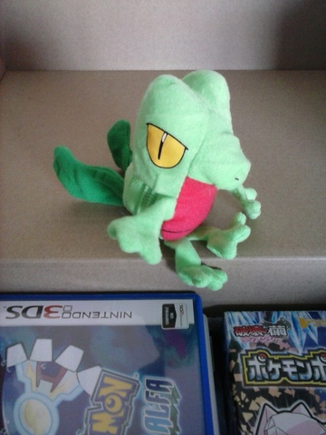 Reversible Treecko plush (into a Pokeball). Never been used.