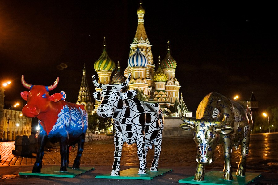 russia-moscow-cow-parade-ru125496