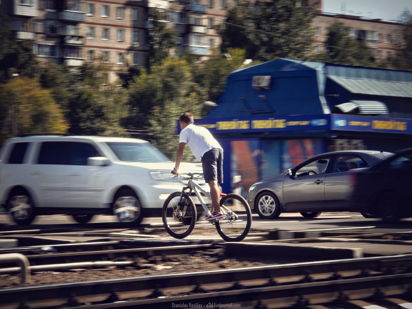 Железнодорожный переезд в Щербинке