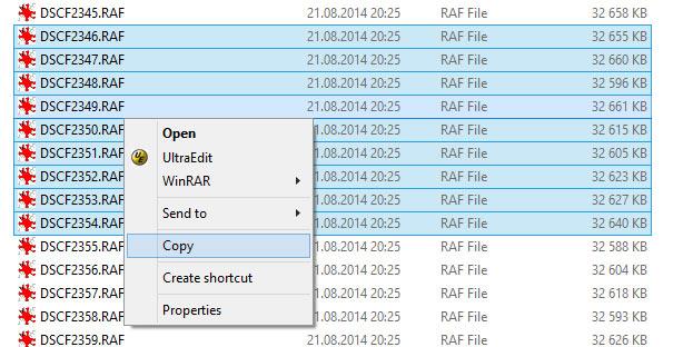 Нельзя вырезать файлы в Windows