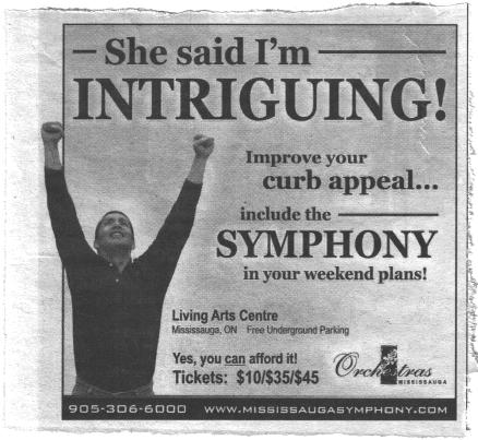 Seriously, this is the wrong way to sell a symphony.