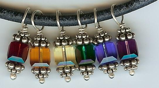 Swarovski crystal detail from my Pride necklace