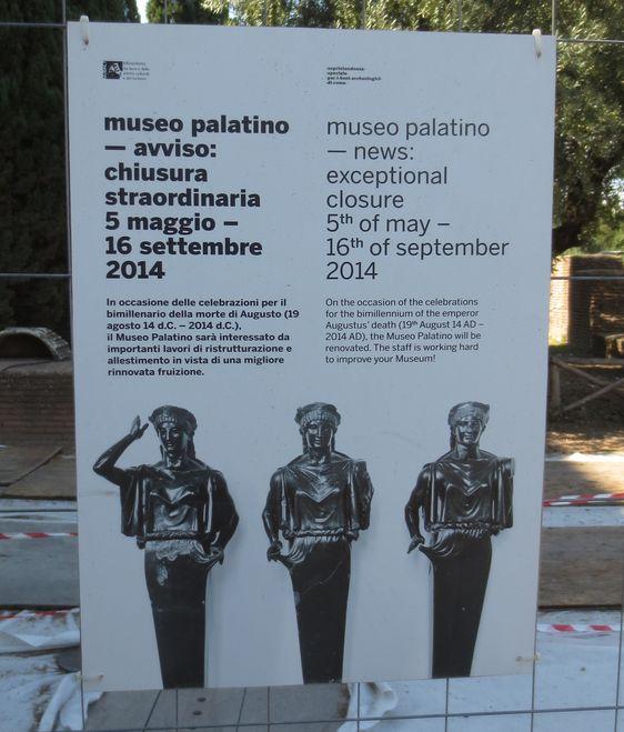 augustus-palatine-museum-closed