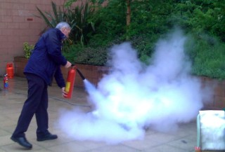 ...being put out with a CO2 extinguisher.