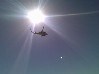 Fire helicopter as it flew overhead...